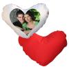 Προσωποποιημένο μαξιλάρι καρδιά με εκτύπωση τη φωτογραφία ή το μήνυμά σας.