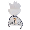 Προσωποποιημένη μπομπονιέρα λευκή γάμου ή βάπτισης.Πουγκί πολυτελείας